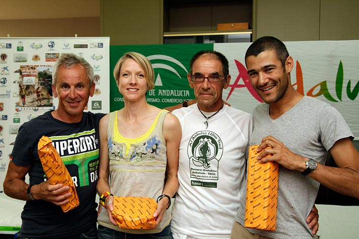 Richard Webster, Helen Taranowski, Paul Bateson and Riel Carol,  - Al Andalus Ultimate Trail 2011